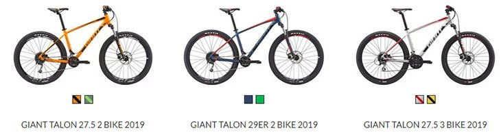 Giant Talon 2 & 3 2019
