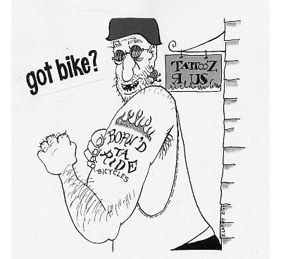 Bike cartoon by Bob Lafay
