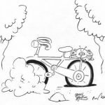 Bike cartoon by Jonny Hawkins