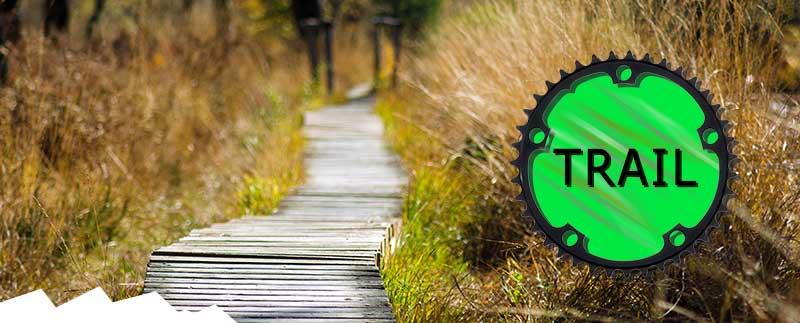 Trail type mountain bikes