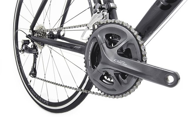Shimano Claris crank on a road bike