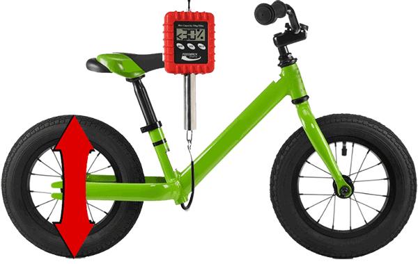 Balance bike wheel size and weight
