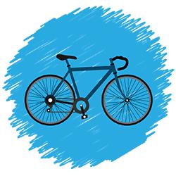 drawn road bike