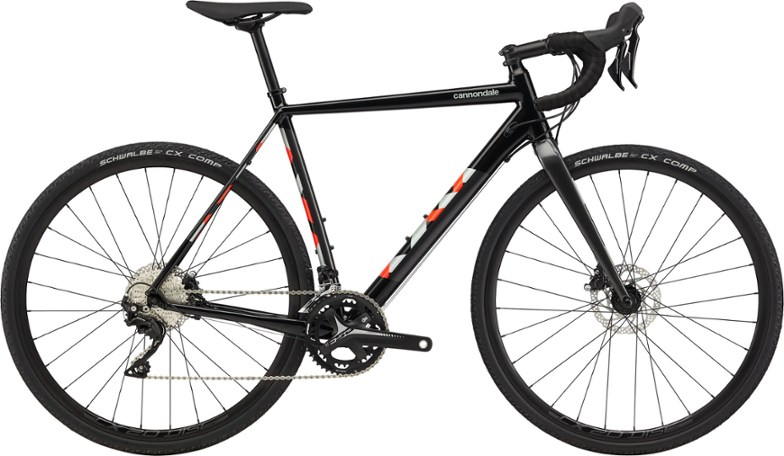 black cyclocross bicycle