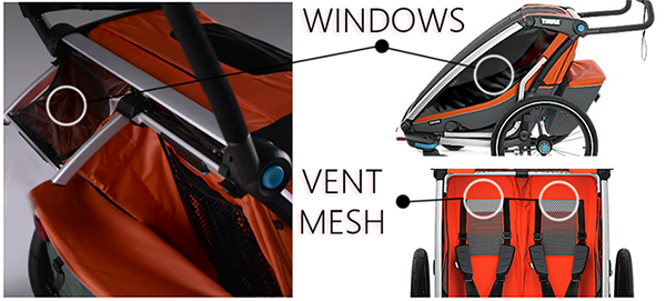 thule chariot windows and mesh