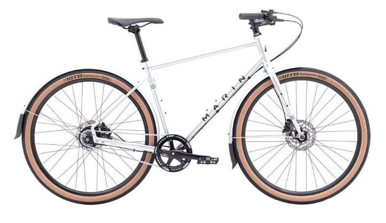 marin muirwoods white hybrid bike