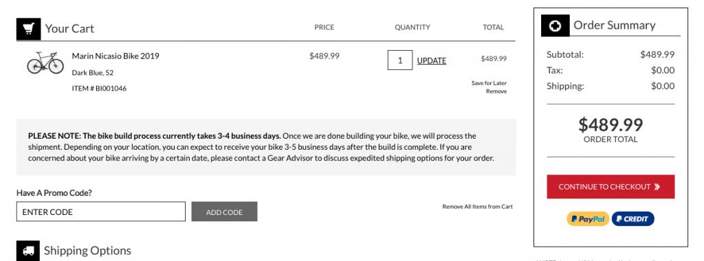 JensonUSA Shopping Process