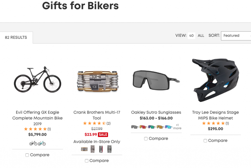 evo Website Gifts For Bikers