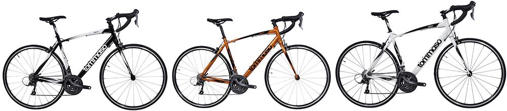 tommaso imola road bikes in three colors