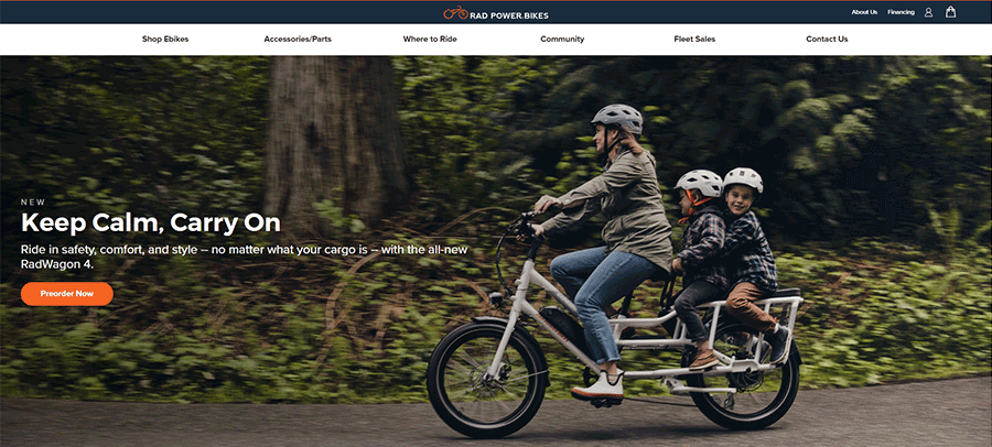 rad power bikes home page