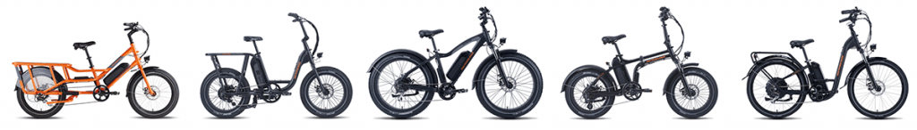 variety of electric bikes by rad power