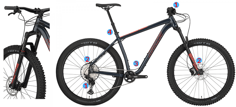 salsa timberjack mtb features