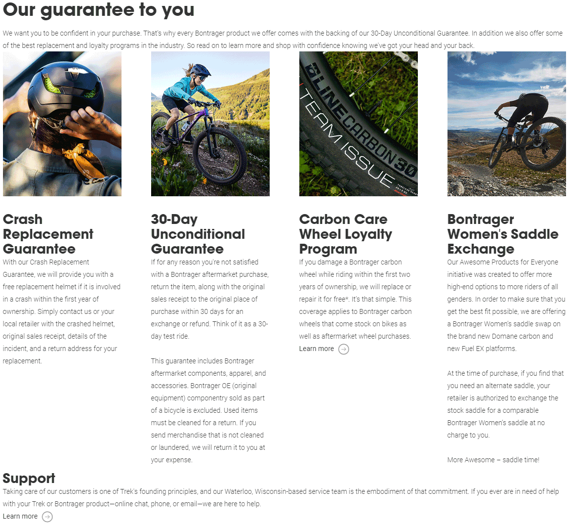 bontrager warranty and guarantee