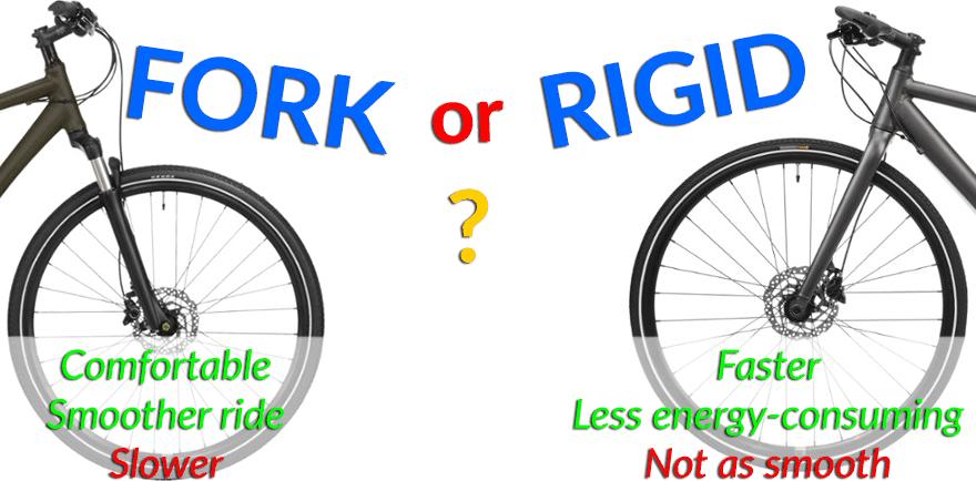 front forks or suspension on a hybrid bike