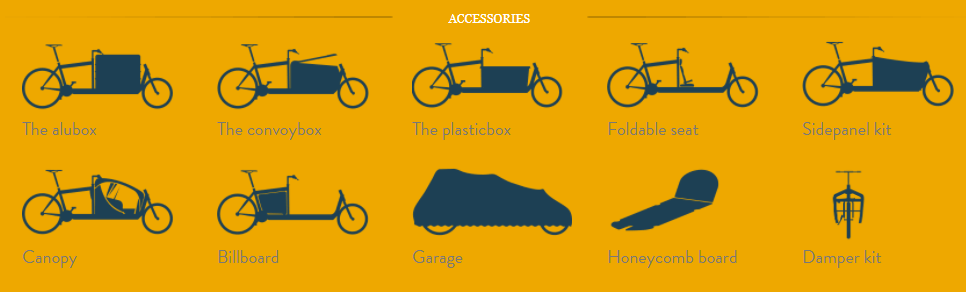 front loader cargo bike accessories