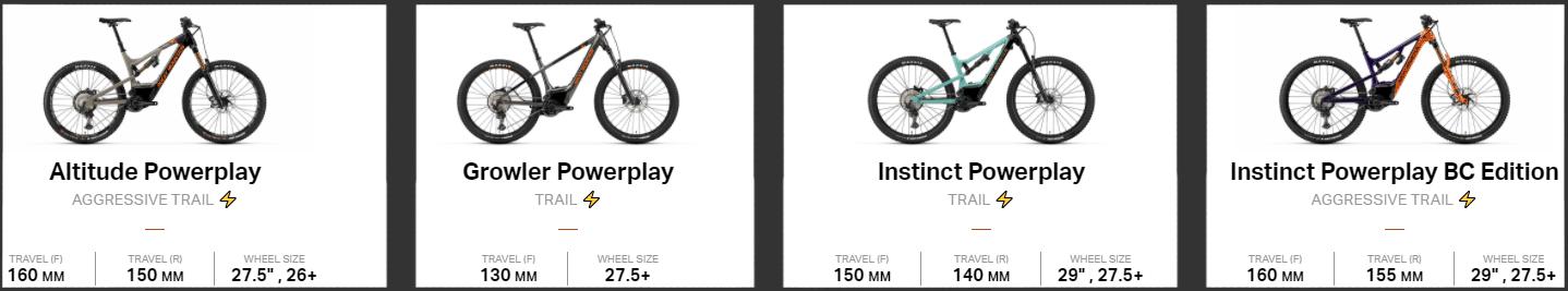 rocky mountain e bike selection