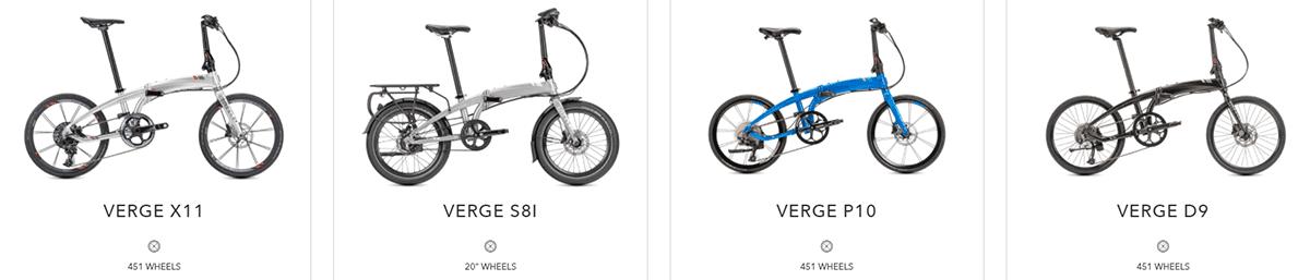 tern verge bikes range