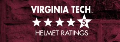 Virginia Tech bike helmets