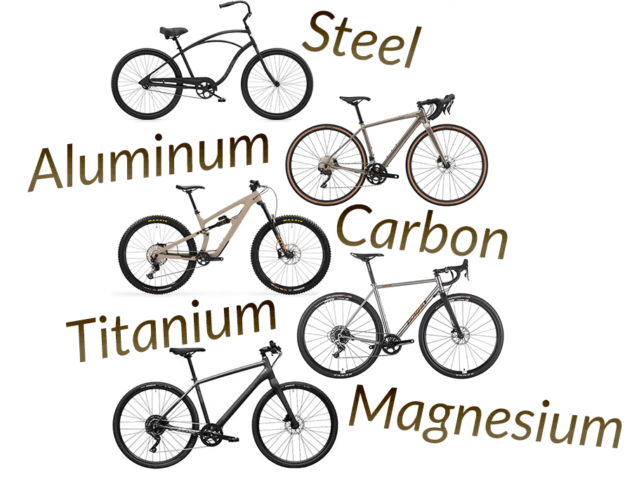 different bicycle frame materials