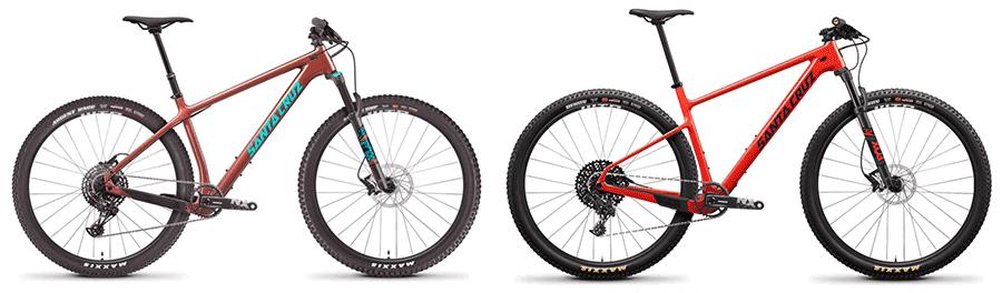 santa cruz hardtail mountain bikes