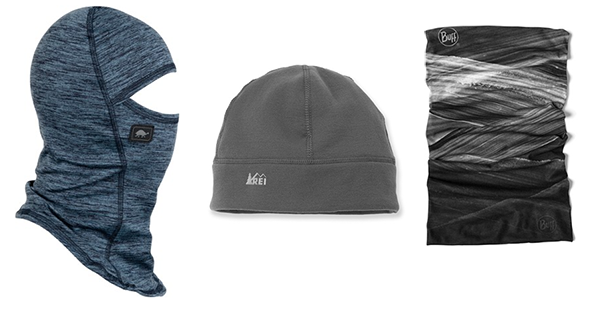 cycling buff, beanie and scarf