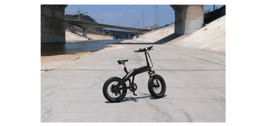 electric bike at a waterway