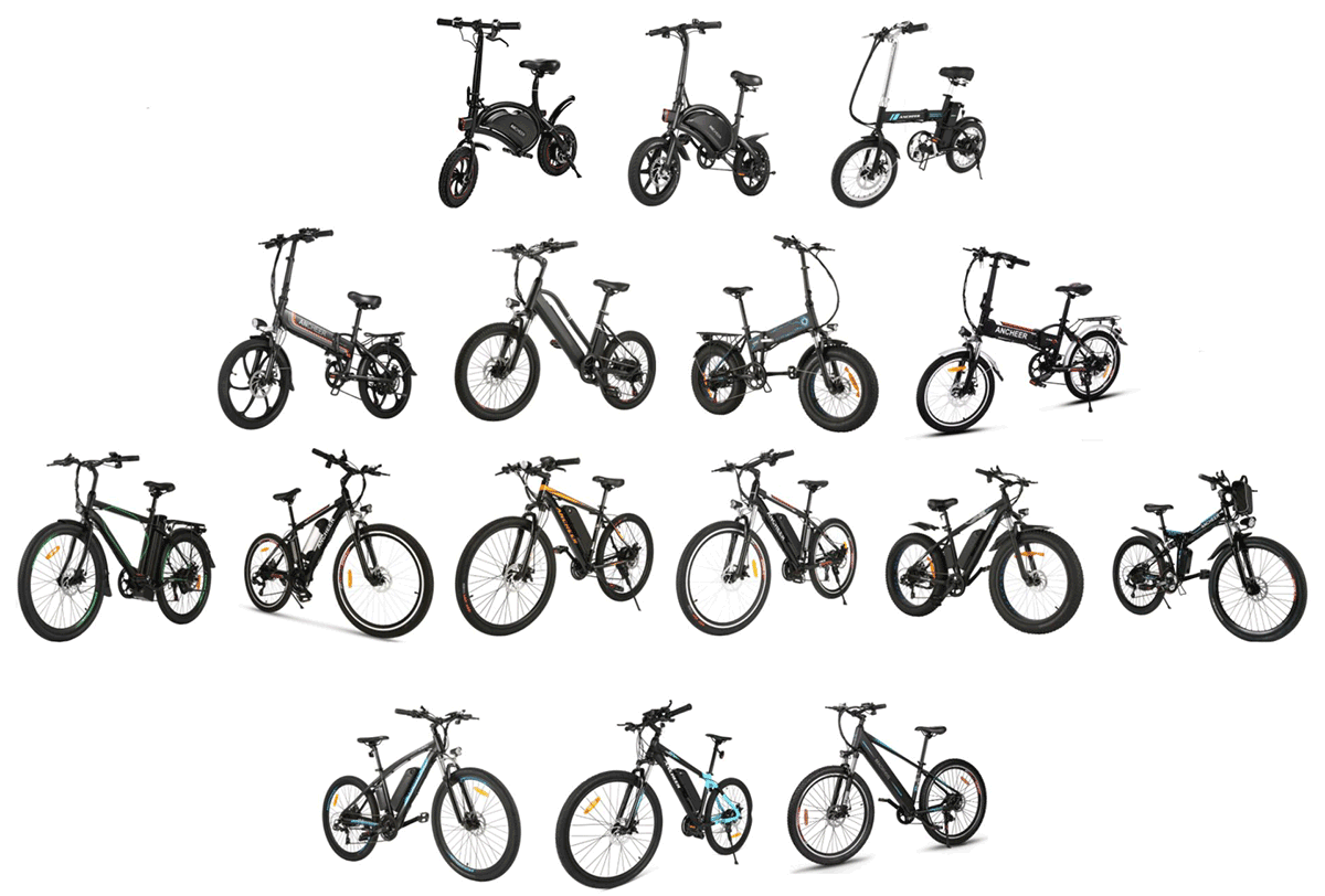 all ancheer electric bikes