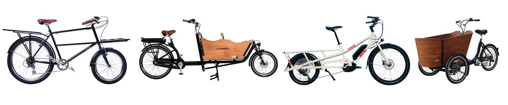different types of cargo bikes