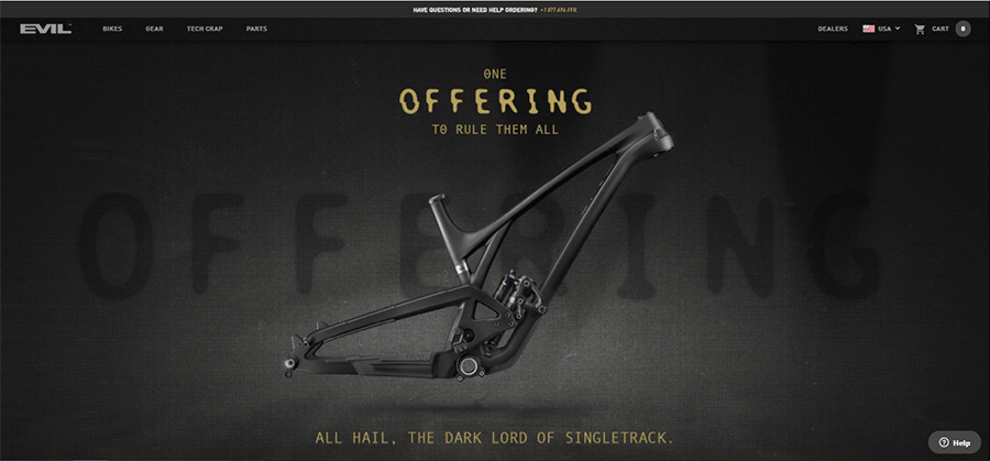 evil bikes home page
