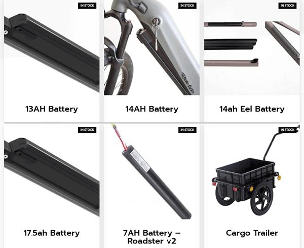 ride1up electric bike accessories