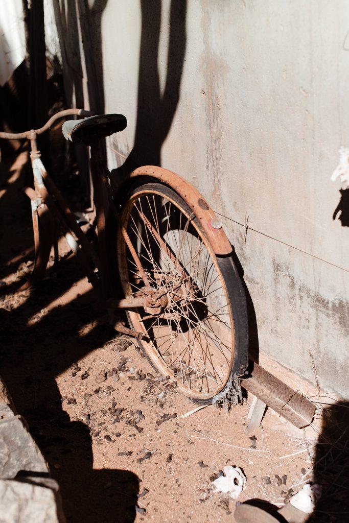 old broken bike