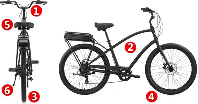 electric cruiser bike features