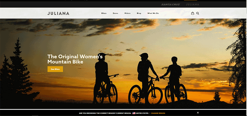 juliana bicyclces home page