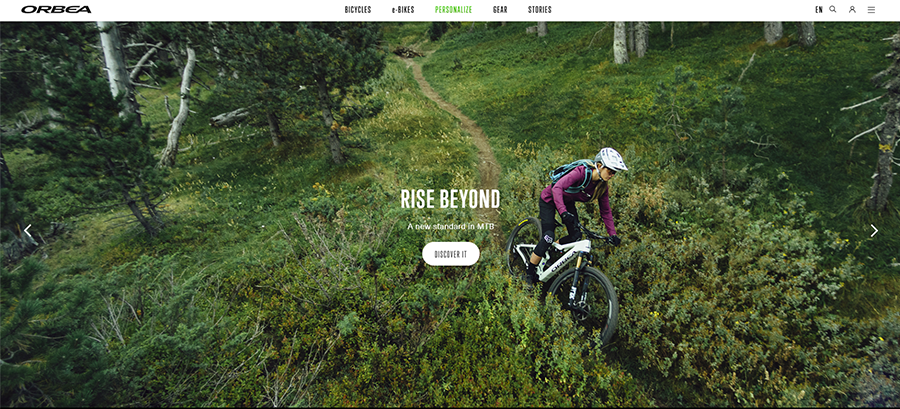 orbea bikes website