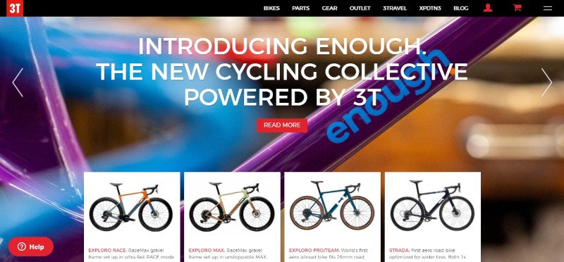 3T bikes website