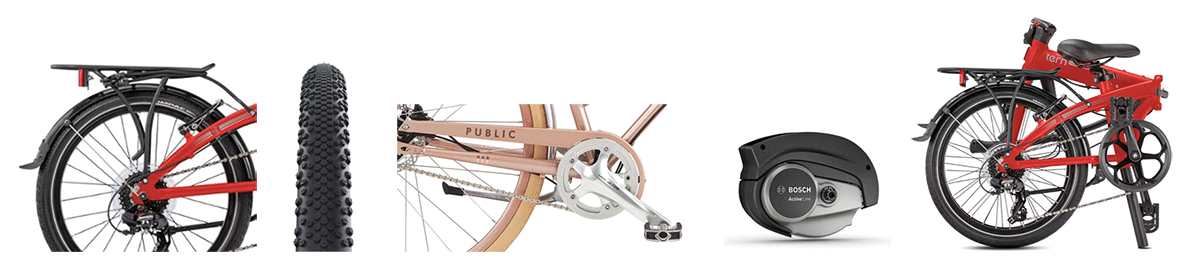 Most usual components and features of the commuter bike