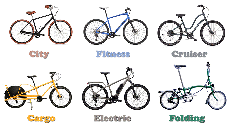 different types of commuter bikes
