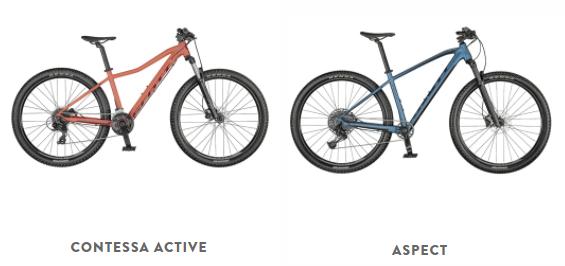 Scott hardtail/sports bikes