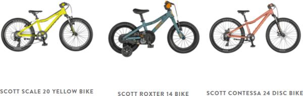 Scott Junior Kid's bikes