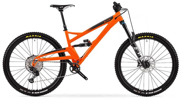 orange full suspension mountain bike