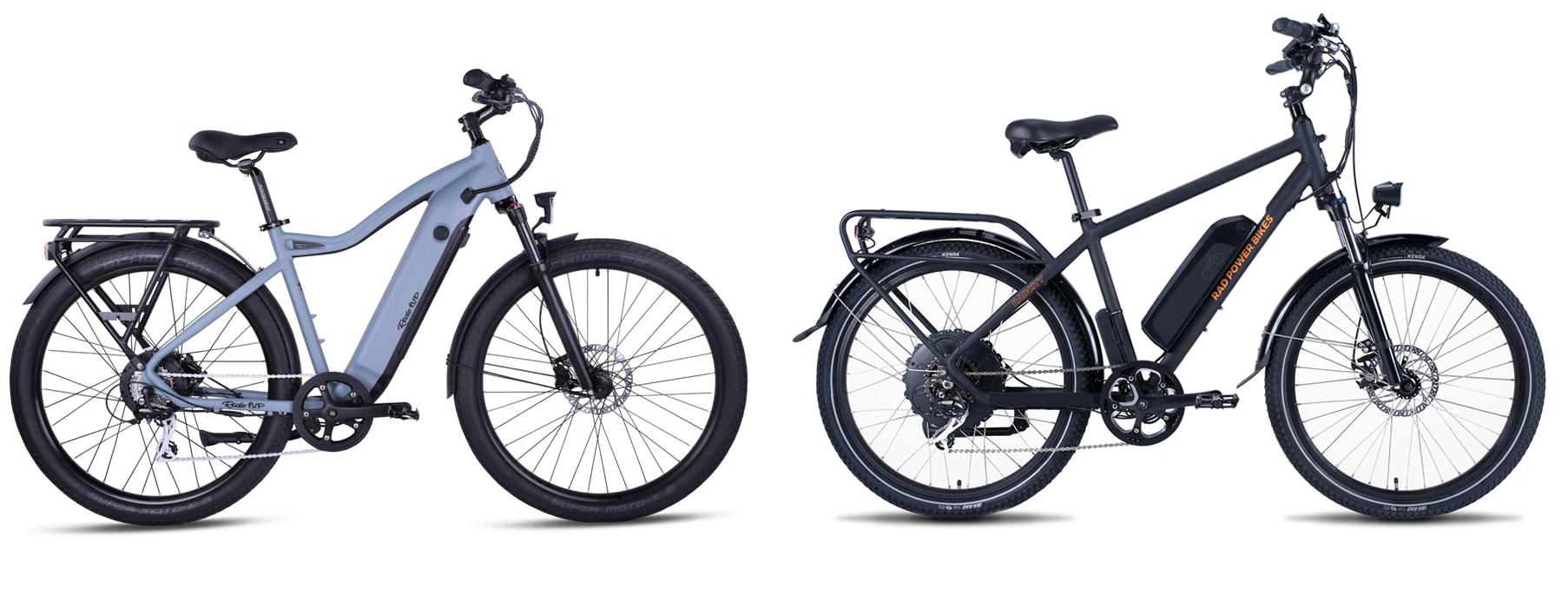 ride1up 700 series vs rad power bikes radcity4