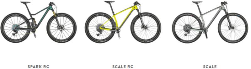 Scott Cross-Country bikes