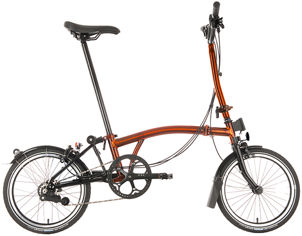 Brompton Black Edition Superlight H6L Flame Lacquer, MSRP $2,820