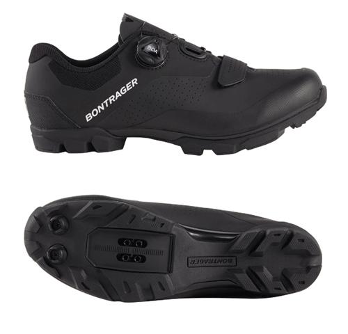 black bontrager clipless mountain bike shoes