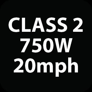 Class 2 electric bike label