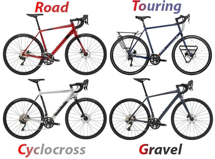 gravel road cyclocross road comparison