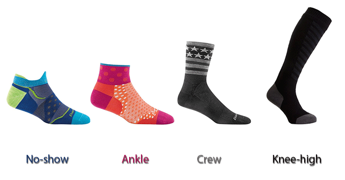 different sock heights