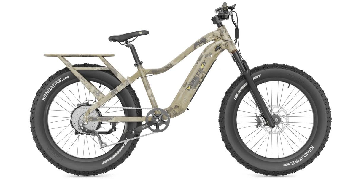 Class 2 electric bike with a throttle assist QuietKat Ranger