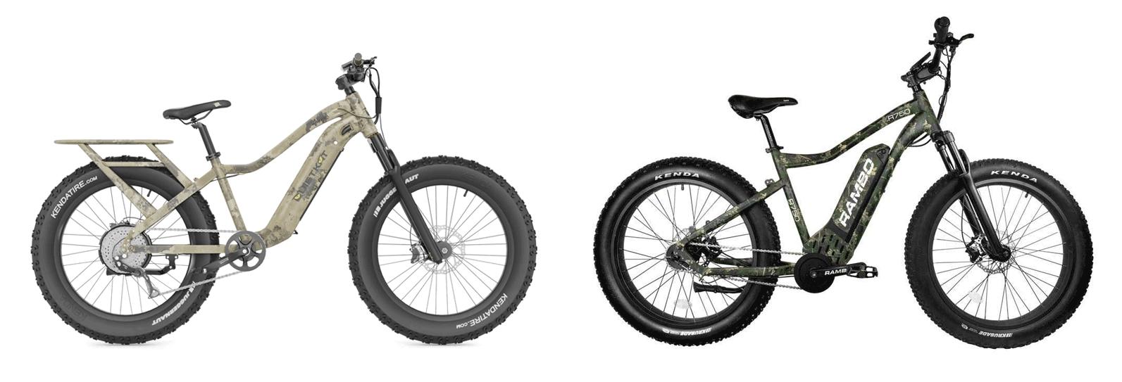 QuietKat Ranger hunting bike vs Rambo Bikes the Roamer
