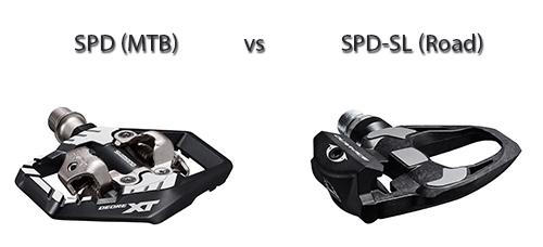spd vs spd-sl pedals